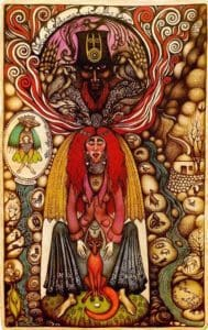 Drawing by Vali Myers called Black Shaman